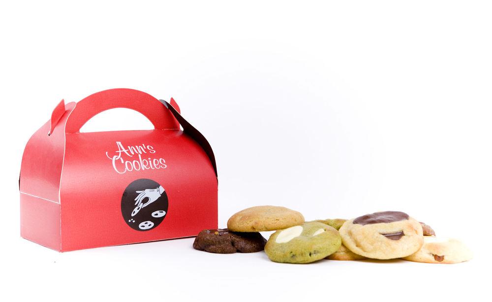 Boîte de 8 ou 12 cookies - parfums au choix