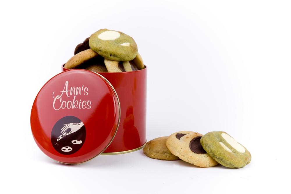 Boîte en métal de 9 cookies - parfums au choix