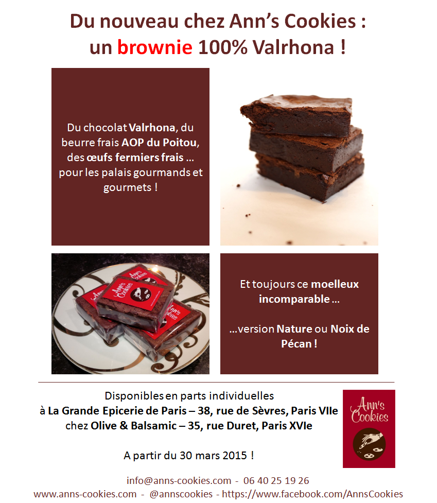 Brownies Nature ou Noix de Pécan