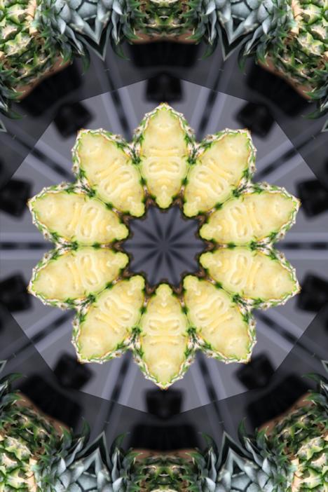 Inspiration cookie de l'été 2016 - ananas fleur