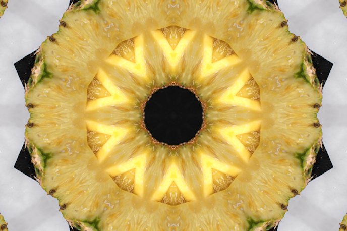 Inspiration cookie de l'été 2016 - ananas soleil