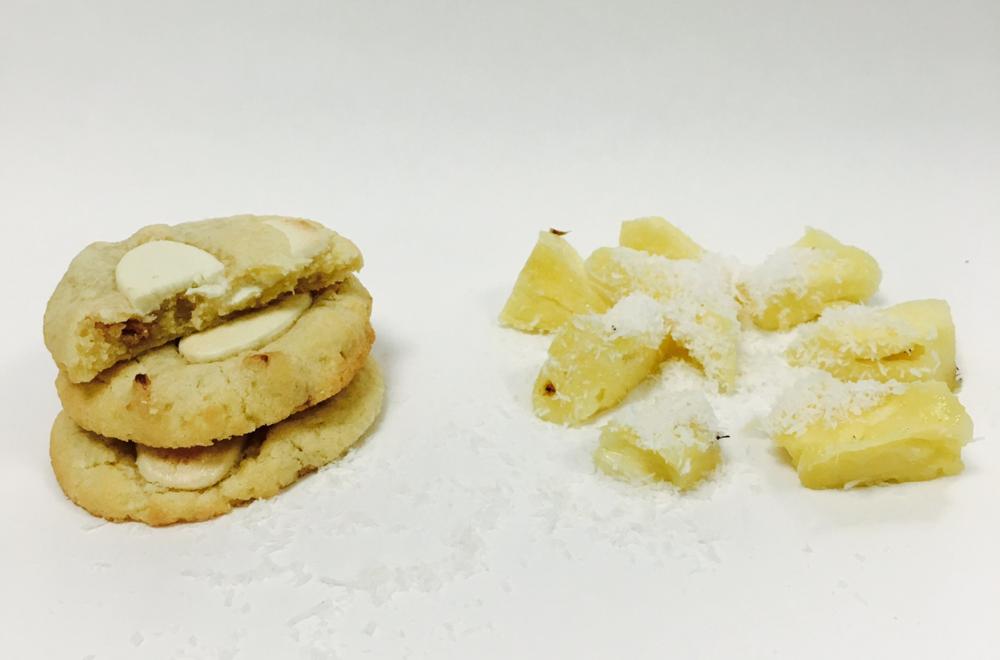 Cookie Ananas Coco de Ceylan & Chocolat Blanc Opalys de Valrhona - Eté 2016