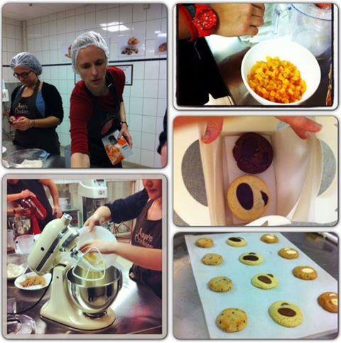 Préparation de cookies et brownies dans notre atelier !