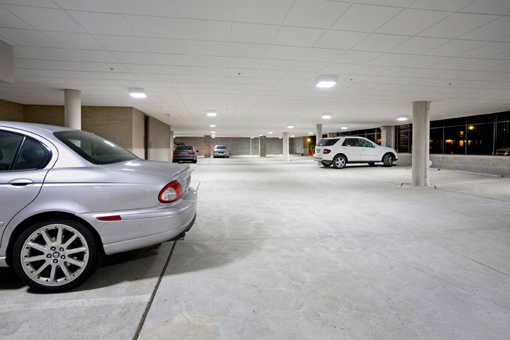 Parking garage conversion from 150 watt MH to 60 watt LED fixtures.