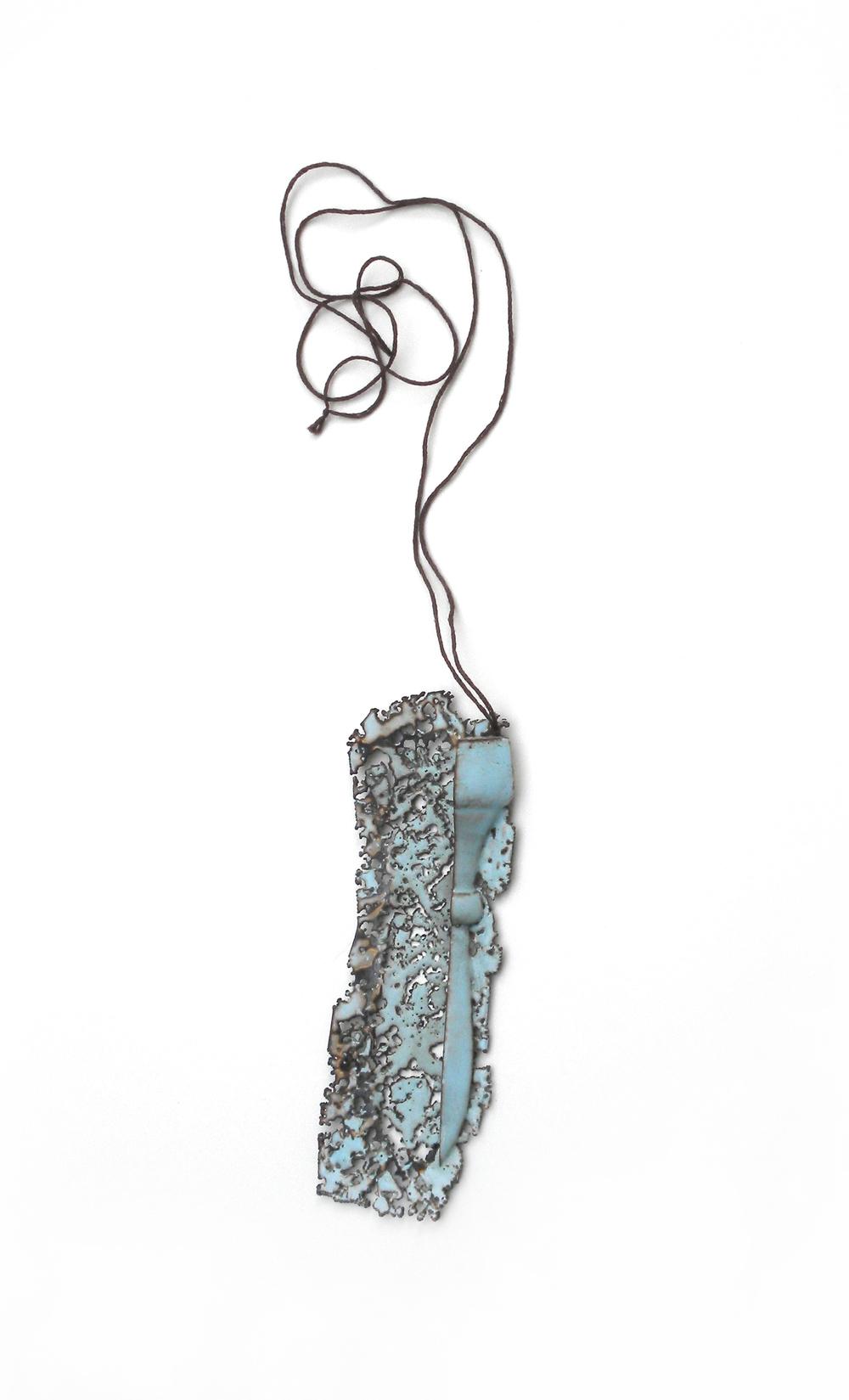 copper, enamel, thread  2013