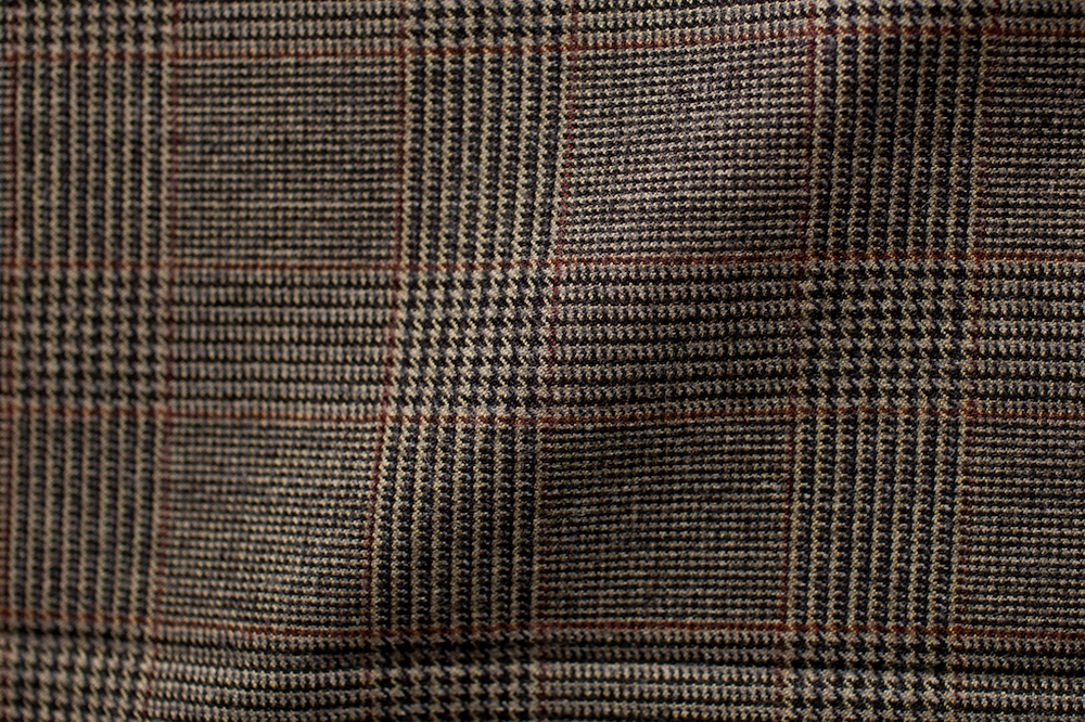 Brown Checkered Houndstooth Tweed