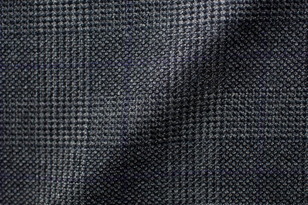 Grey Checkered Stubble Tweed