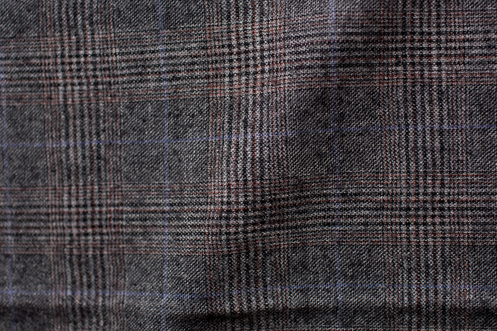 Checkered Windowpane Tweed