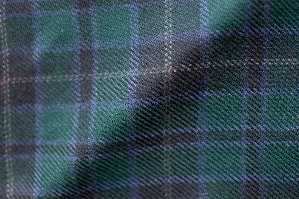 Green Plaid Tweed