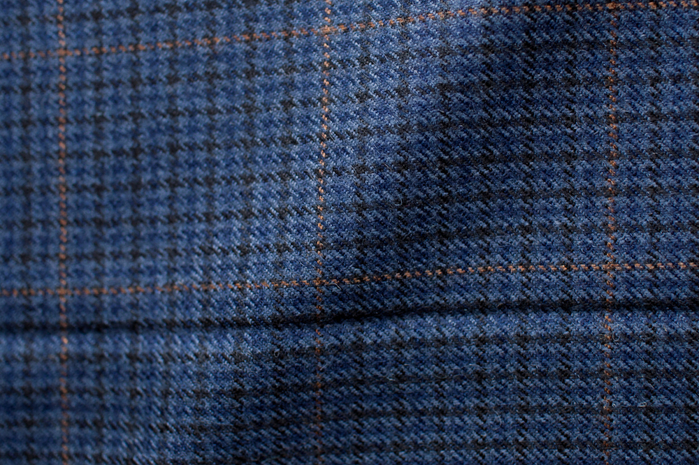 Dark Windowpane Houndstooth Tweed