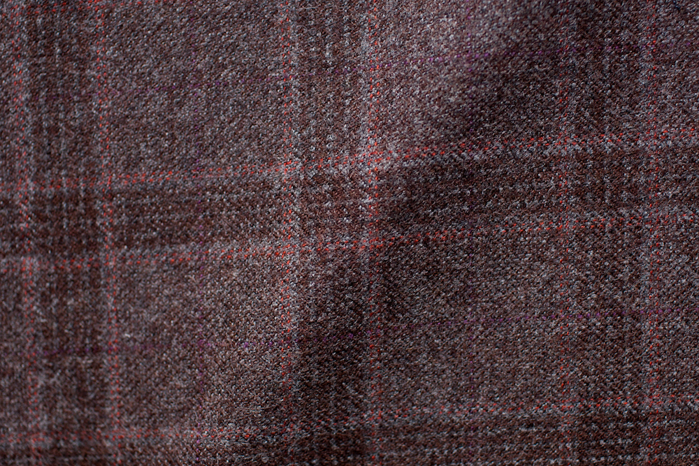 Burnt Brown Checkered Tweed