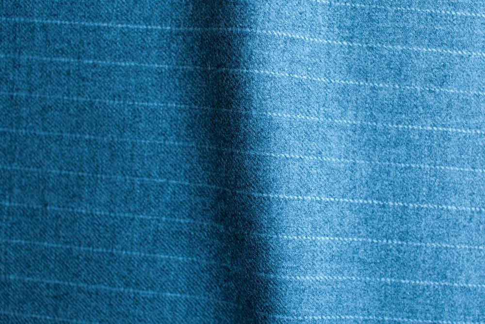 Light Grey Wide Pinstripe Tweed