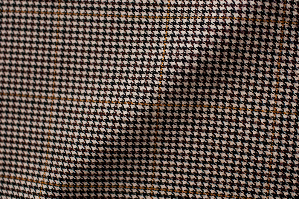 Brown Windowpane Houndstooth Tweed