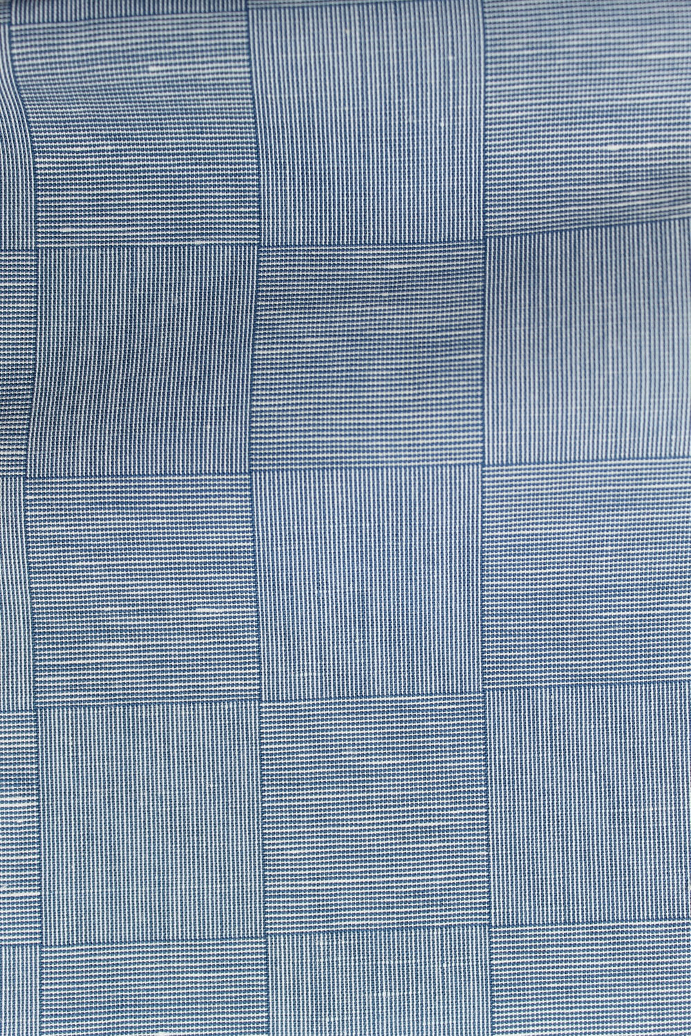 L127 Blue Checkerboard Cotton Twill.JPG