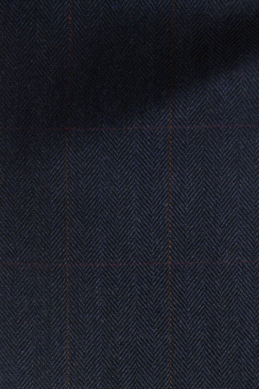 7381 Navy Herringbone Pattern Tweed 390g.JPG