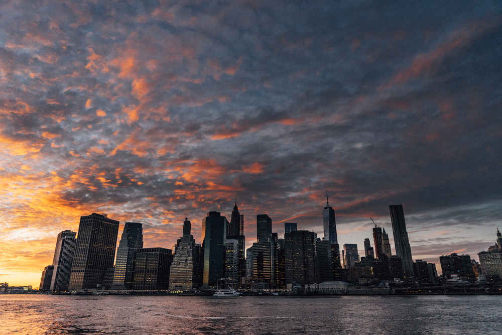 """Manhattan Skyline"", 2014  16""x20"" Metal Print - $500"