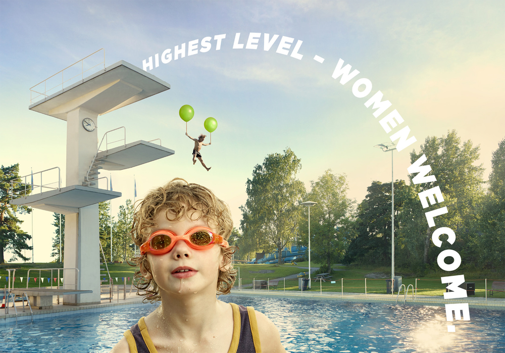 Finland is ranked second in equal rights in the world, which means you'll meet women at the top in more places than our Helsinki Swim Stadium's diving tower.