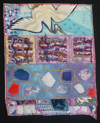 Flight Over Stone Pond (quilt) | Cindy Rinne