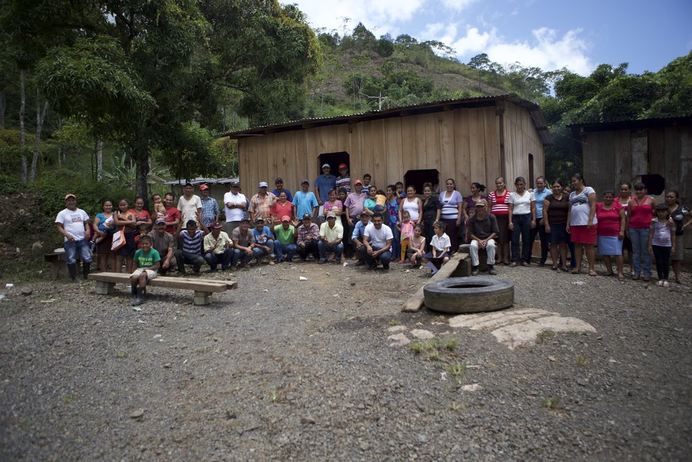 Proud community of farmers in Nicaragua