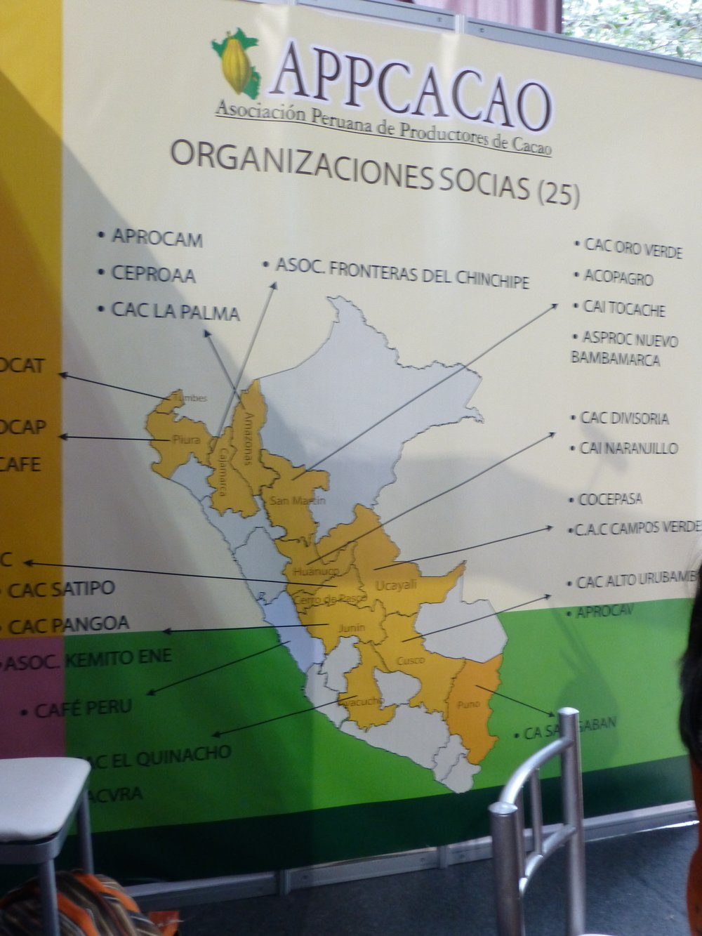 Cacao growing regions