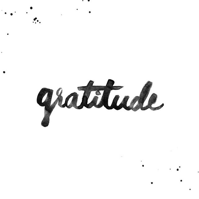 GRATITUDE. It'll change your life.