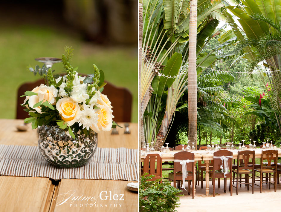 FYI were all flower arrangements were hand made in the spot by the bride´s Mom with an extra big dose of love.