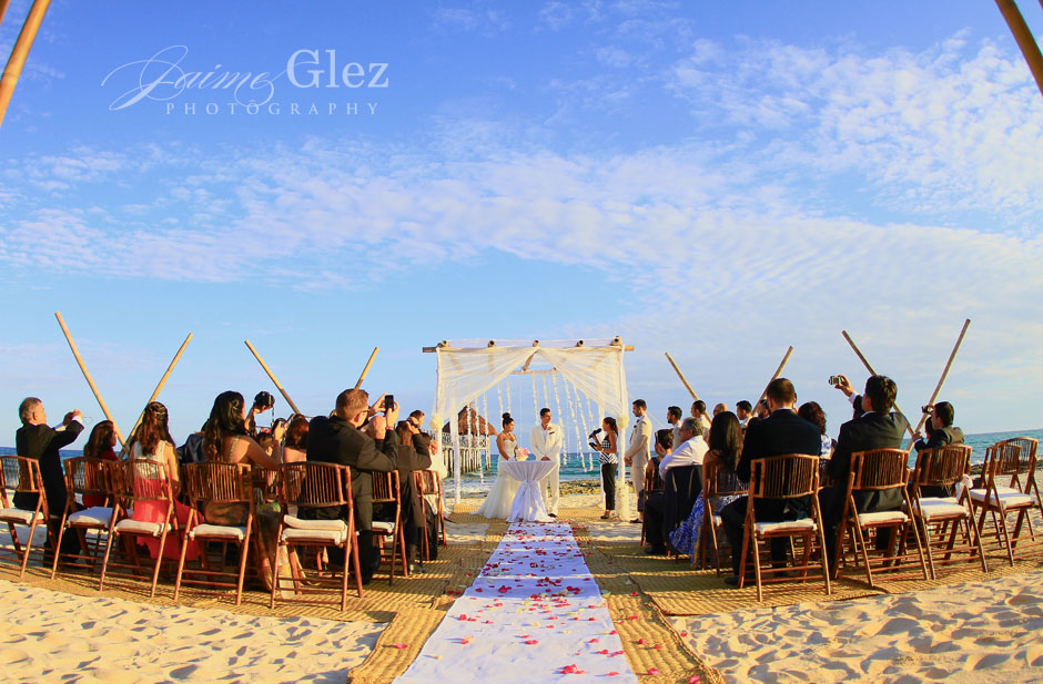 Romantic and intimate beach ceremony...