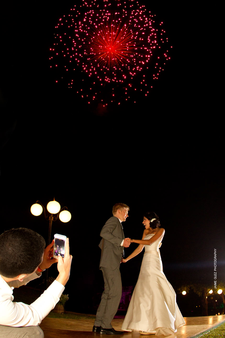 And to continue the celebration, fireworks was the ultimate surprise for the guests and the newlyweds.