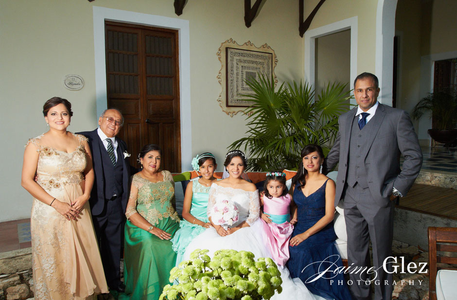 The bride and her family moments before the ceremony.