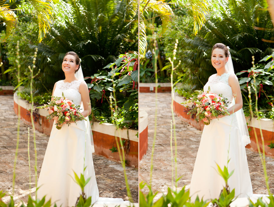 Gorgeous bride in an elegant and delicate wedding dress... Her style is beautiful!