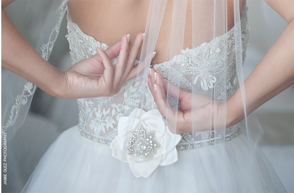Stunning details on this wedding dress!