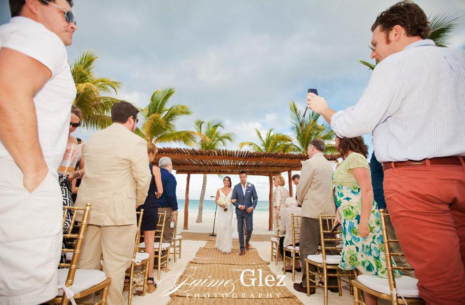 secrets maroma beach wedding 22
