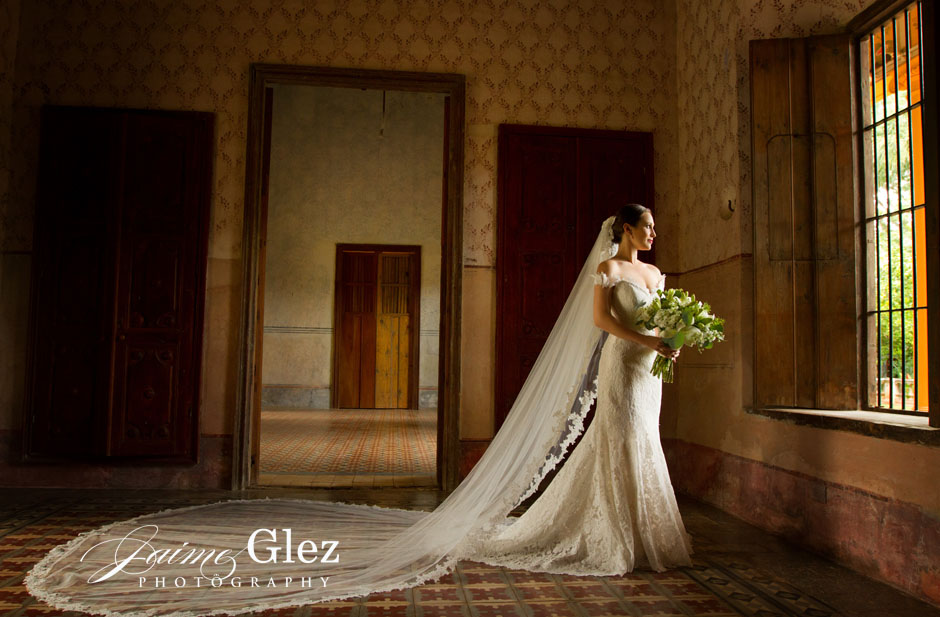 Love this photo! Nothing like natural light shining on the bride!