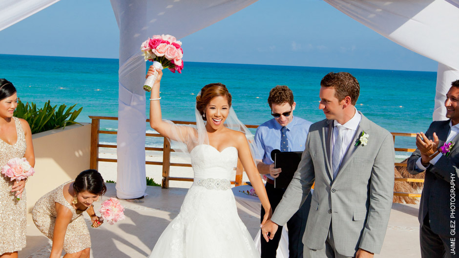 now jade riviera cancun wedding photos 8