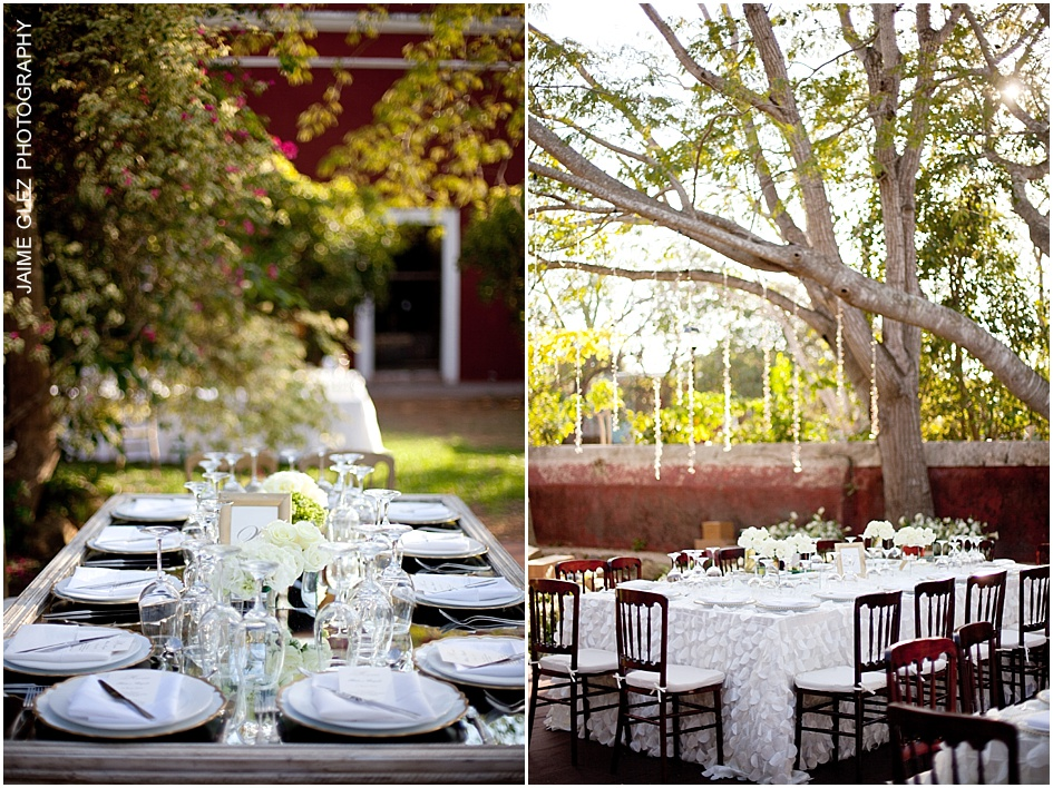 All ready! A mix of elegance and romance for your wedding reception.