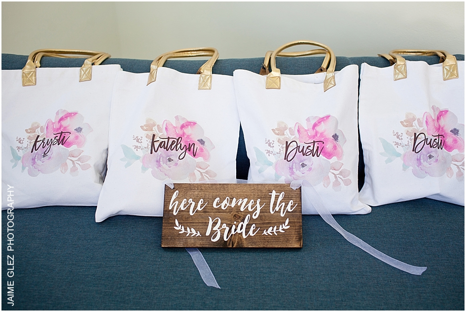 Pretty and personal bridesmaids gifts.