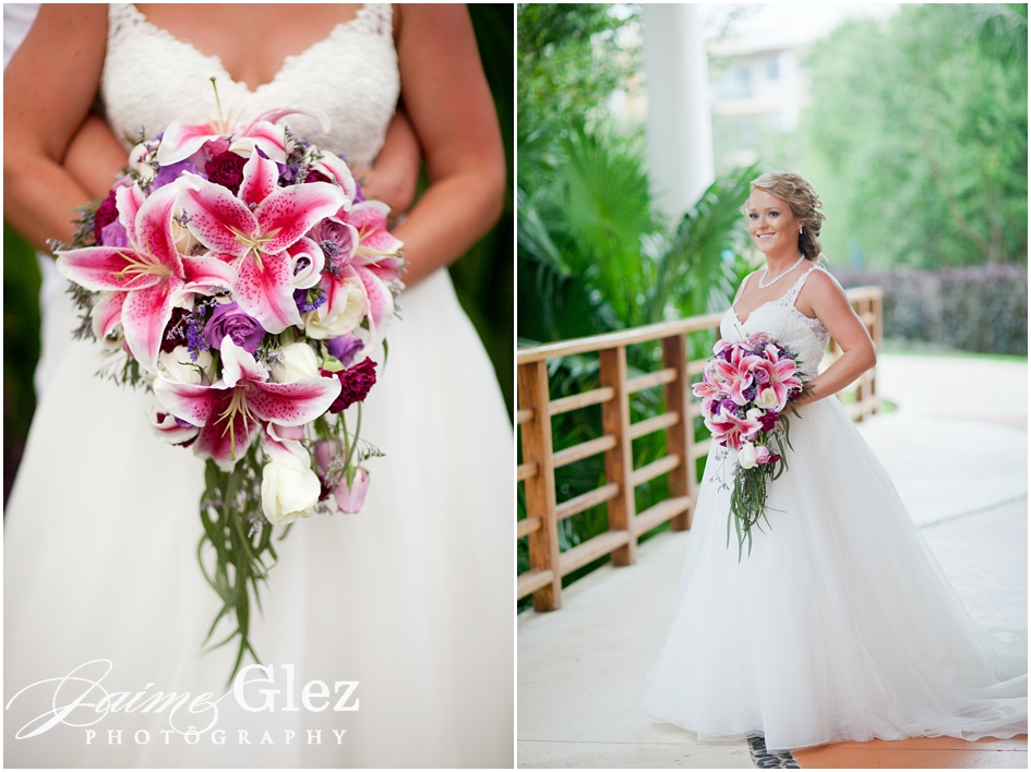 Gorgeous Oriental Lily and Roses bridal bouquet.