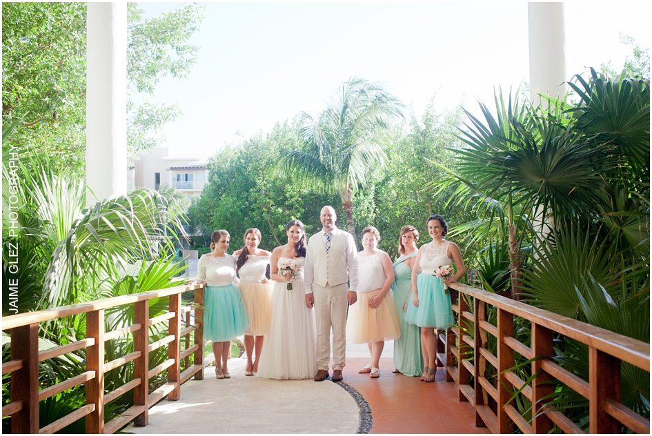Lovely turquoise dresses of bridesmaids. What do you think?