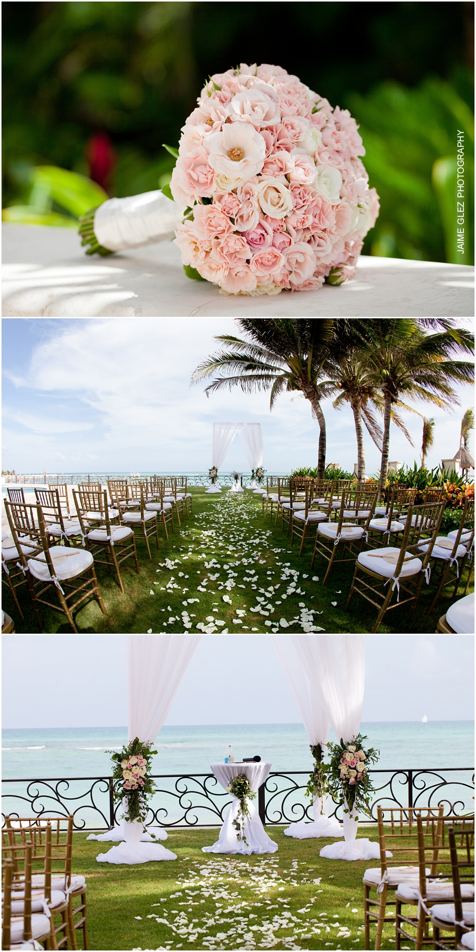 Beautiful outdoor wedding ceremony decor.