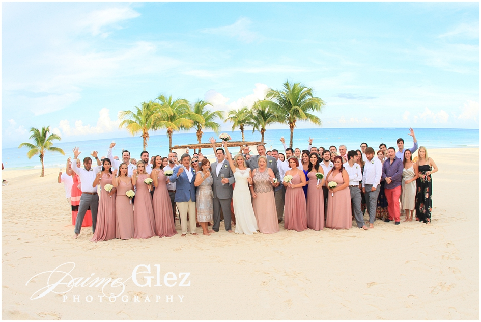 Wedding party on the beach!