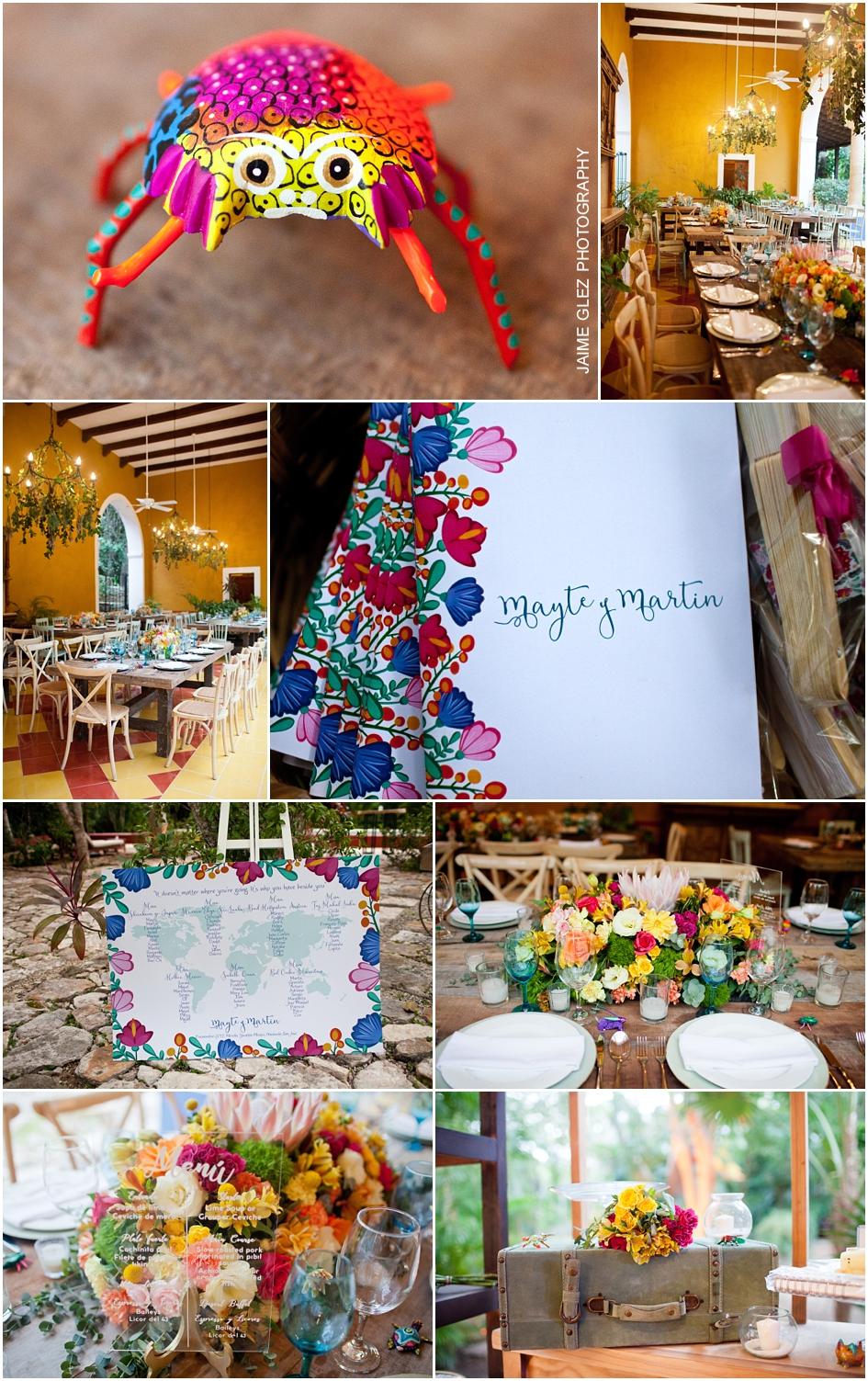 Encantadora decoración mexicana. Con mucho estilo y magia.