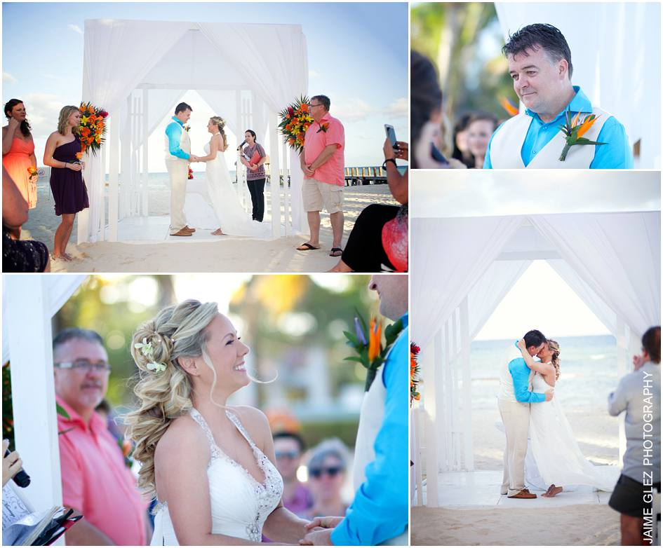 Happiness and love everywhere! Wonderful moments of wedding ceremony.