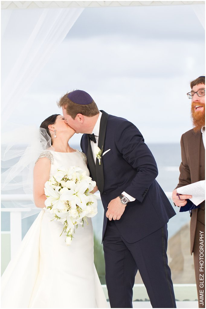 First kiss as husband and wife. Lovely!