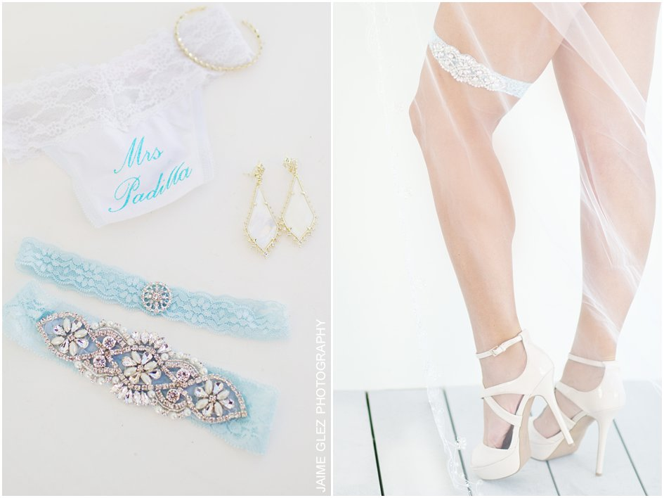 Lovely light blue bridal lace garter. Love the details.