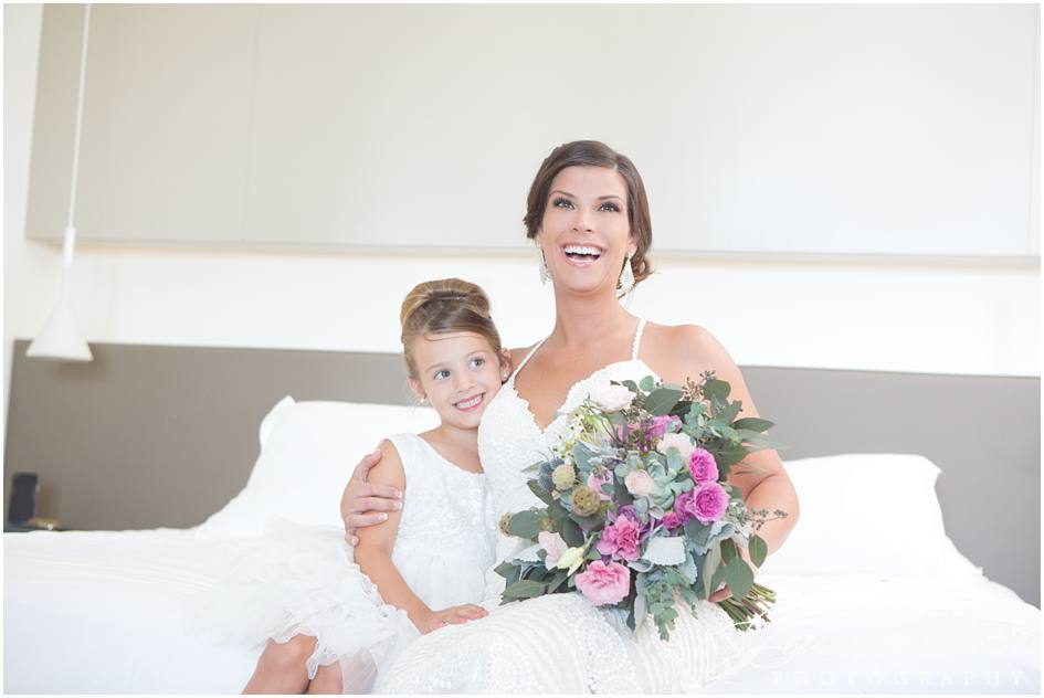 Bride & daughter! A very special moment before wedding ceremony.