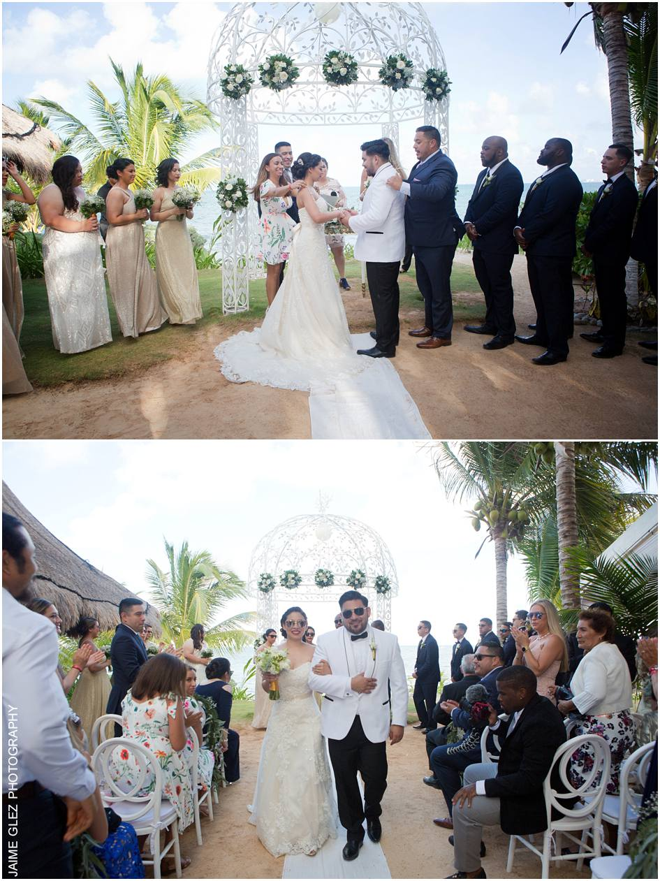 ocean wedding cancun mexico 17
