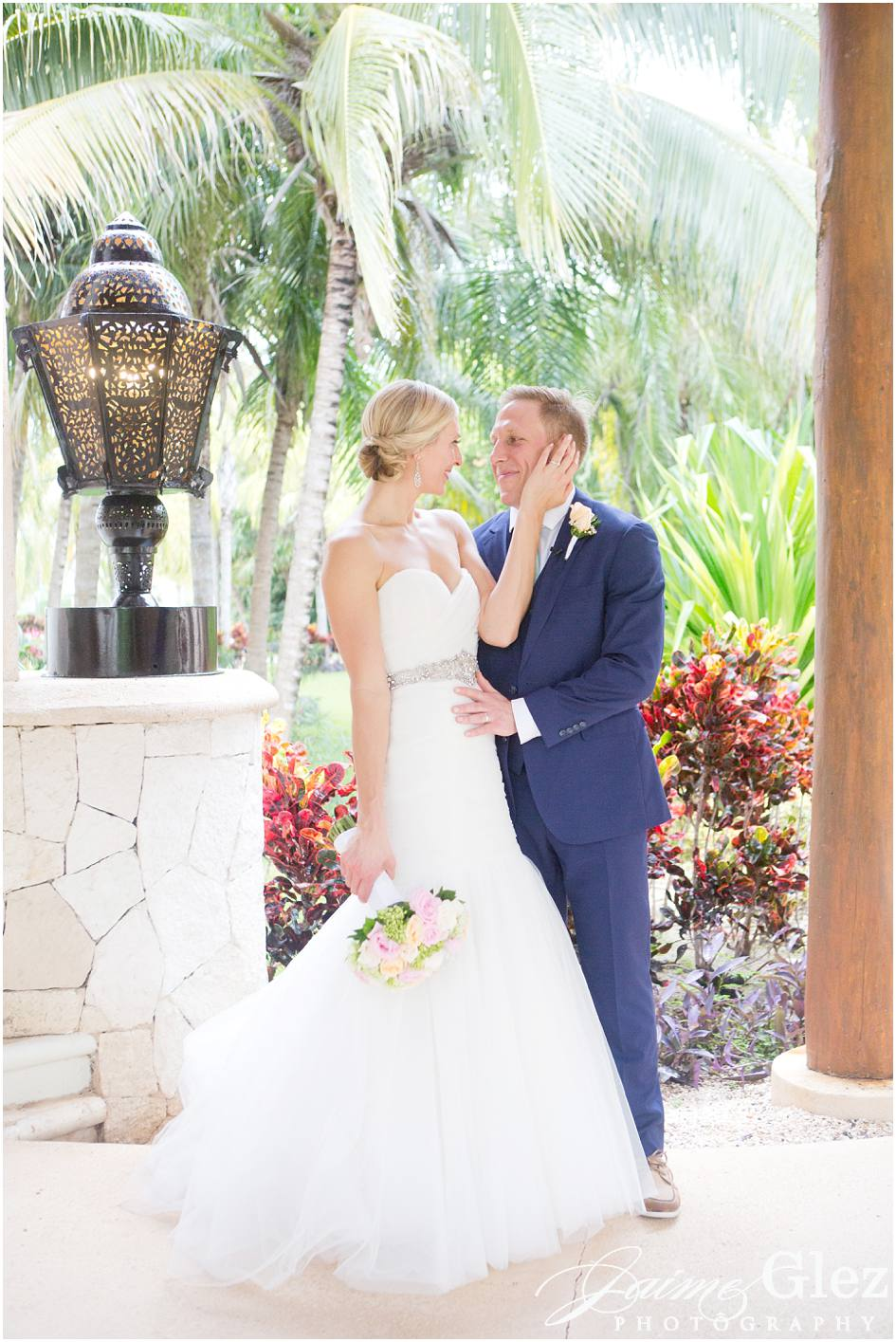secrets maroma beach wedding photos