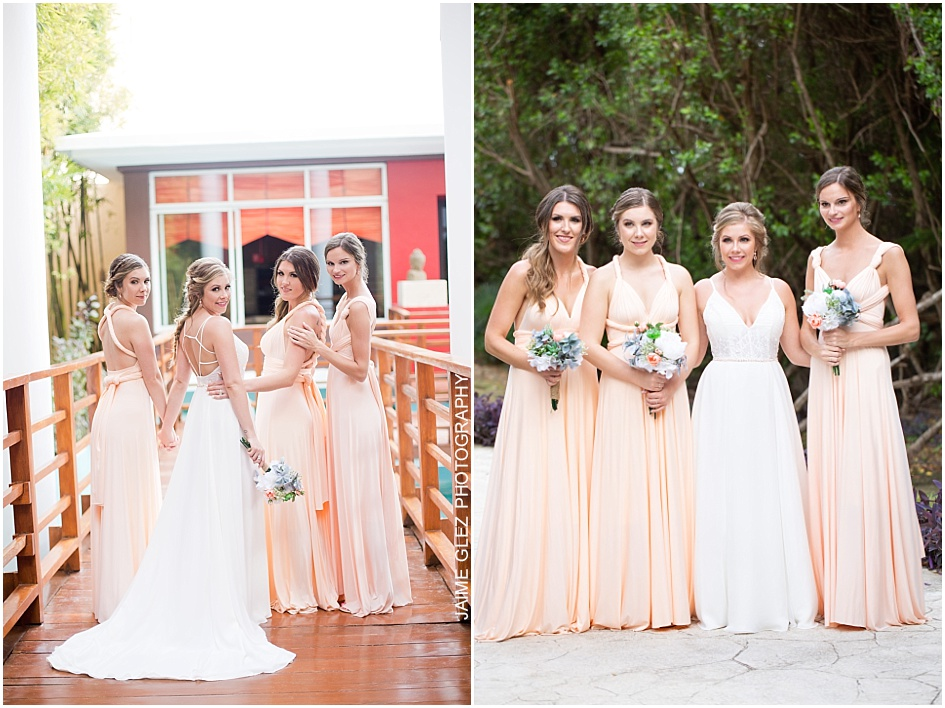Lovely white and peach palette in dresses! They look gorgeous.