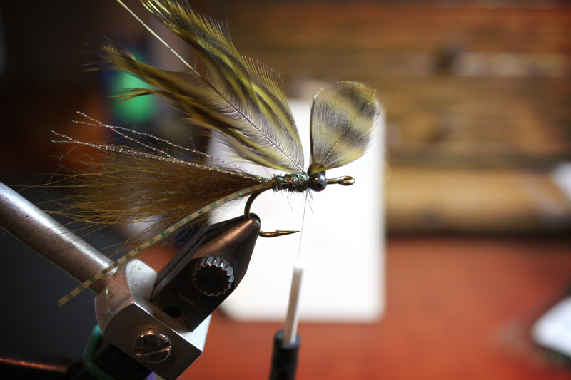 tie in a single hen hackle feather.
