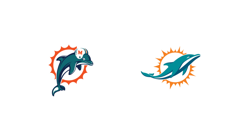 Miami's Dolphin loses it's silly helmet.